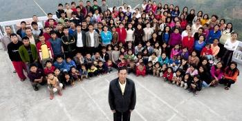 Un indien marié à 39 femmes a 94 enfants et 33 petits enfants.